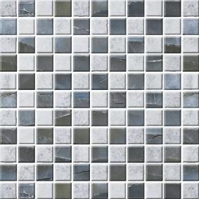 Мозайка стеклянная «ЭКО» с чипом 25*25 мм МСЭ-001 273*273 мм