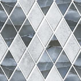 Мозайка стеклянная «ЭКО» ромб МСЭ--001/5 260*270 мм