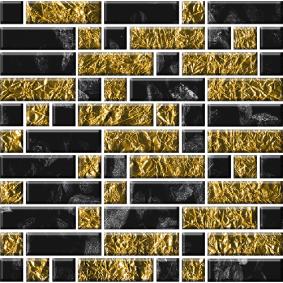 Мозайка стеклянная «КЛАССИКА» с чипами 79*25 мм и 25*25 мм МСФ-002/2 295*295 мм
