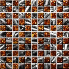 Мозайка стеклянная «КЛАССИКА» с чипом 25*25 мм МСФ-003 273*273 мм